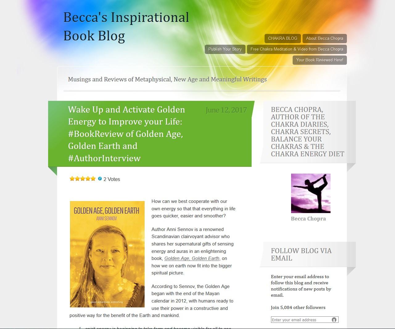 Becca's Inspirational Book Blog screenshot