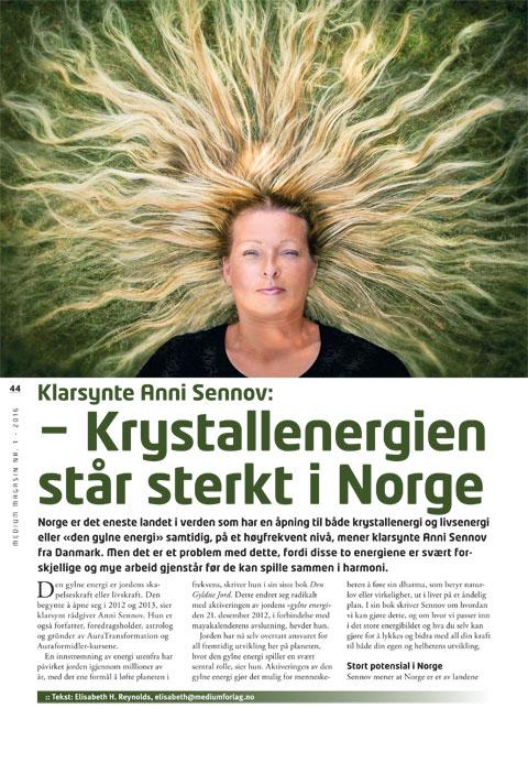 Krystallenergien står sterkt i Norge